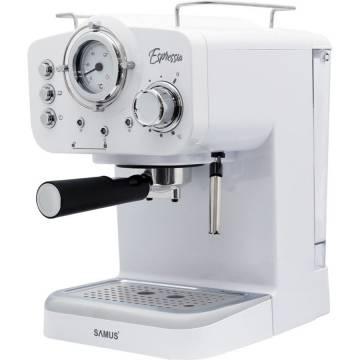Espressor Samus Espressia White, 15 bari, 1100 W, Termometru, Barometru, Alb
