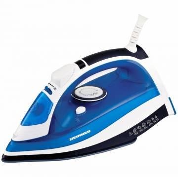Fier de calcat Heinner Azuritte HSI-2400AZ, 2400 W, Talpa ceramica, Auto-oprire, Albastru