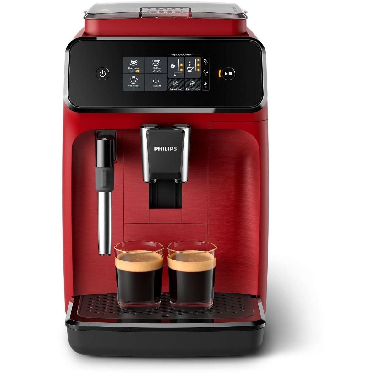 Espressor automat EP1222/00 Philips, 15 bari, 1.8 L, Ecran tactil, Rosu