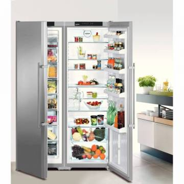 Side by side Liebherr Confort SBSesf 7212, 651 l, Clasa A+, No Frost, VarioSpace, H 185.2 cm, Inox