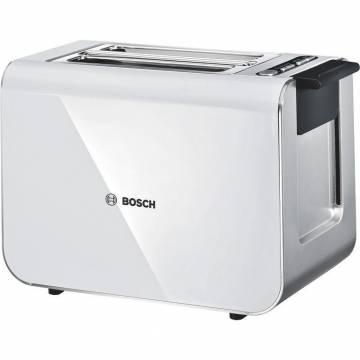 Prajitor de paine Bosch TAT8611, 860 W, 2 felii, Alb