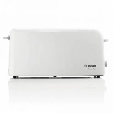 Prajitor de paine Bosch TAT3A001, long slot, 980W, 2 felii de paine, Alb