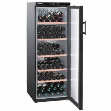 Vitrina de vinuri Liebherr Premium WTb 4212, 395 l, Capacitate 200 sticle, Clasa A, 6 zone de temperatura, H 165 cm, Usa vitrata