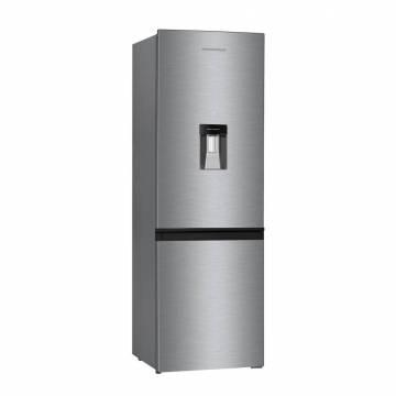 Combina frigorifica Heinner HC-H292XA+, 292 l, Clasa A+, Frost Free, Congelator No-Frost, Dispenser apa, Control electronic, H 185.5 cm, Inox