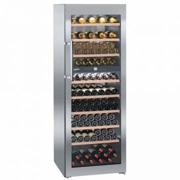Vitrina de vinuri Liebherr WTes 5972, 516 l, Capacitate 211 Sticle, H 192 cm, 2 zone de temperatura, H 192 cm, Argintiu