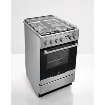 Aragaz mixt Electrolux EKK54955OX, Aprindere electrica, 4 Arzatoare, Grill, Dispozitiv siguranta plita, 50cm (Inox)