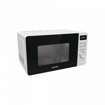 Cuptor cu microunde Gorenje MO20A3W, Capacitate 20 L, Putere 800 W, Comenzi Electronice, Display, 11 Programe Preinstalate, Alb