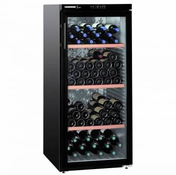 Vitrina de vinuri Liebherr WKb 3212, 309 l, Capacitate 164 Sticle, Clasa A, H 135 cm, Negru Mat