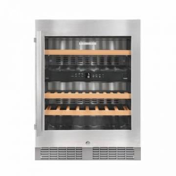 Vitrina frigorifica incorporabila Liebherr Premium UWTes 1672, 2 zone de racire individuale