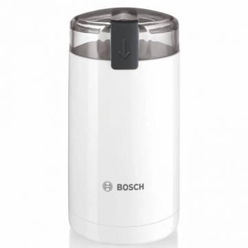 Rasnita de cafea Bosch TSM6A011W, 180 W, 75 g, cutit otel inoxidabil, Alb