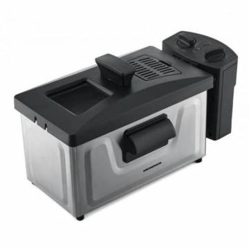 Friteuza Heinner HDF-1800SS, 1800 W, termostat reglabil, timer, 3 L, Inox