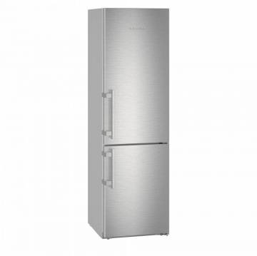 Combina frigorifica Liebherr CNef 4835, 361 L, No Frost, Display, Control electronic, Alarma usa, Raft sticle, SuperCool, H 201 cm, A+++, Argintiu
