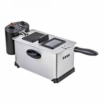 Friteuza Zass ZDF 02, Putere 2000W, Capacitate 3L, Temporizator 30min, Termostat reglabil 130-190 grade