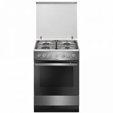 Aragaz Hansa FCMX681009, 4 arzatoare, Gaz, Aprindere electrica, Grill, 60 cm, Inox