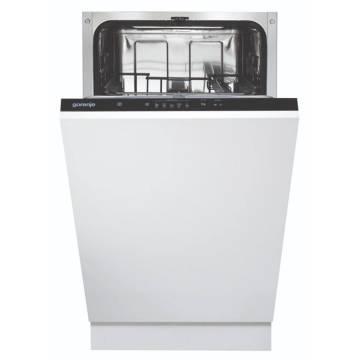 Masina de spalat vase Gorenje GV52010, Incorporabila, 9 seturi, A++, 5 programe, Aqua Stop, Panel negru