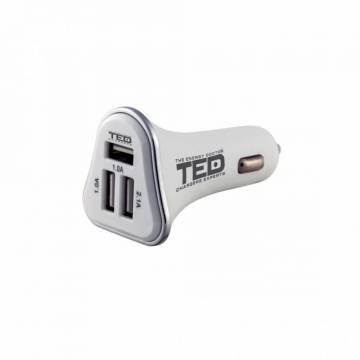 Alimentator de la auto 12V la 3 x USB 3A 1 x 2,1A 2 x 1A TED Electric