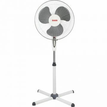 Ventilator cu picior Zass ZF 1605, 45 W, 3 viteze, 41cm diametru, Alb