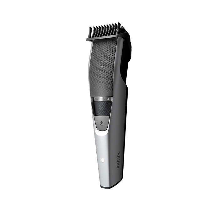 Aparat de tuns barba Philips BT3216/14, Lame din inox 0.5-10mm, Argintiu/Negru
