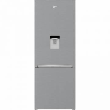 Combina frigorifica Beko RCNE560I30DXB, 497 l, Clasa A++, NoFrost Dual Cooling, Compartiment 0°C, Kitchen FIT, H 192 cm, Argintiu