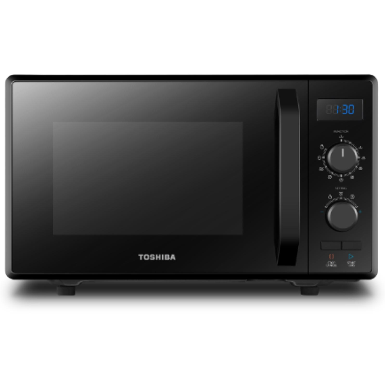 Cuptor cu microunde Toshiba MW2-AG23PBK, volum 23 L, afisaj digital, 900 W, 4 nivele putere, grill 1000 W, 8 programe auto cooking, iluminare LED, Negru