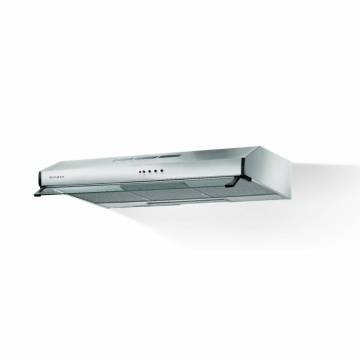 Hota traditionala Faber 2740 PB SRM X A60, 60 cm, 2 motoare, 380 m3/h, 70 dB, filtru aluminiu, viziera, iluminare LED, clasa D, control buton, Inox