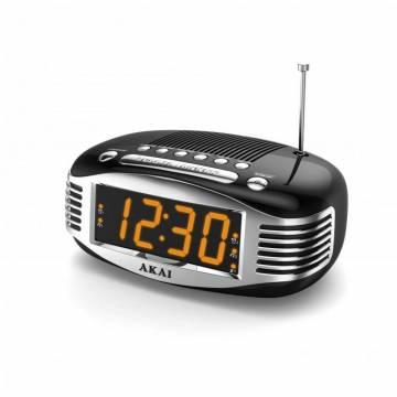 Radio cu ceas Akai CE-1500, AM/FM, Ecran LED, Sleep Timer, Negru