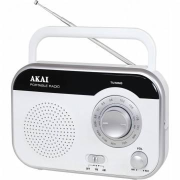 Radio portabil Akai PR003A-410, Alb