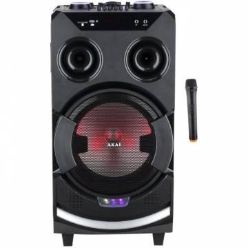 Boxa portabila Akai ABTS-112 cu BT, USB, FM Radio, microfon, baterie reincarcabila