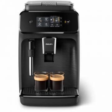 Espressor automat Philips EP1220/00, 15 bar, 2 bauturi, 12 setari de macinare, Afisaj tactil, Rezervor 1.8 l, Setare Eco, Sistem classic de spumare a laptelui, Negru