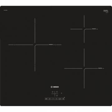 Plita incorporabila Bosch PUJ611BB1E, Inductie, 3 zone de gatit, Control Touch, Timer, PowerBoost, Negru