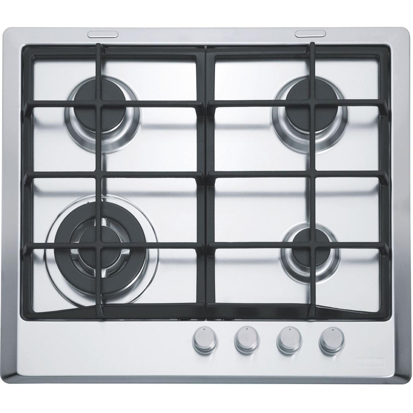 Plita incorporabila Franke Multi Cooking 600 FHM 604 3G TC XS C, 4 arzatoare gaz, 60 cm, Fonta, Inox