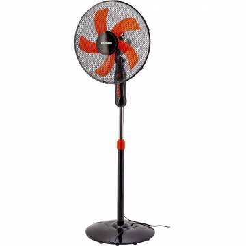Ventilator cu picior Daewoo DDV166, 50 W, 3 viteze, diametru 40 cm, oscilatie la 90 grade, negru cu portocaliu