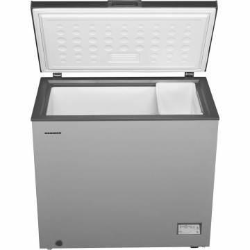 Lada frigorifica Heinner HCF-205NHSF+, 200 l, Control elecronic, Waterproof Display, Clasa A+, Silver, Winter Protection