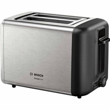 Prajitor de paine Bosch TAT3P420, 970 W, 2 felii, Argintiu/Negru
