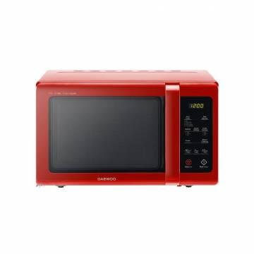 Cuptor cu microunde Daewoo KOR-91RBR, 25 l, 900 W, Digital, Afisaj electronic, Timer, Zero&On, SteamCleaning, Rosu