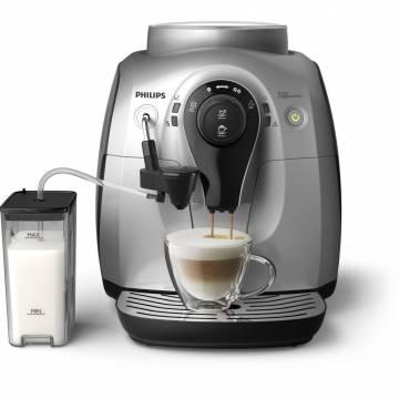 Espressor automat Philips HD8652/59, 1l, 1400W, Carafa cu sistem spumare automata a laptelui, Rasnite 100% ceramice, 15 bar, Argintiu