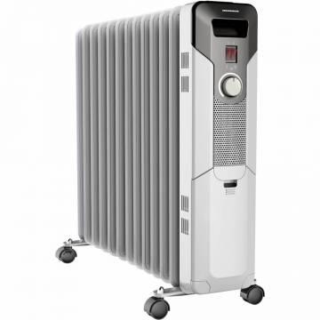 Calorifer electric cu ulei Heinner HOH-Y13S, 2500 W, 13 elementi, protectie supraincalzire, termostat reglabil, alb