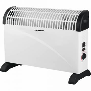 Convector electric Heinner HCVH-Y2000T, 2000 W, termostat reglabil, ventilator Turbo, protectie supraincalzire, alb