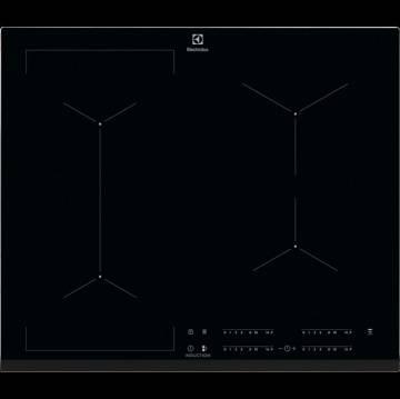 Plita cu inductie Electrolux Bridge EIV634, zone de gatire cu Functie Punte, latime 60 cm, Negru