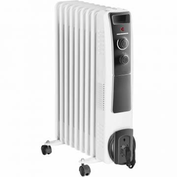 Calorifer electric cu ulei Heinner HOH-Y09WB, 2000 W, 9 elementi, protectie supraincalzire, termostat reglabil, alb