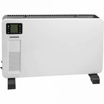 Convector electric Heinner HCVH-Y2300D, 2300 W, display LCD, timer, termostat reglabil, protectie supraincalzire, alb