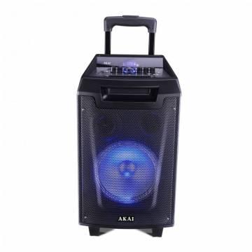 Boxa portabila Akai ABTS-AW8 cu BT, USB, Radio FM, lumini disco, microfon fara fir