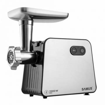 Masina de tocat Samus SMT-2200X, 2200W, Viteze 1+ revers, Cutit inox, Negru-Inox