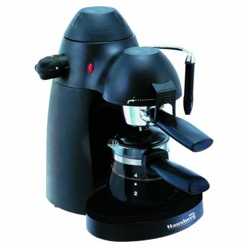 Espresor cafea HB 3710 Hausberg, 4 cesti, 650 W, Negru