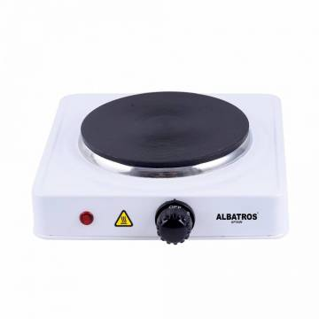 Plita electrica Albatros AP16W, 1 arzator, 1500 W, Alb