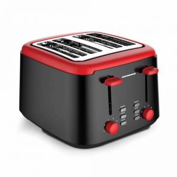 Prajitor de paine Heinner HTP-1450BKR, 4 felii, Functii: decongelare, reincalzire si anulare, 7 niveluri