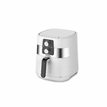 Friteuza cu aer cald Heinner HAF-DM1300WH, Capacitate vas: 4L, capacitate cos: 3L, vas detasabil anti- adeziv, termostat reglabil 140-200˚C, temporizator 30 min, putere: 1300W