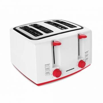 Prajitor de paine Heinner HTP-1300WHR, 4 felii, functii: decongelare, reincalzire si anulare, 7 niveluri