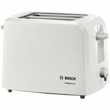 Prajitor de paine Bosch TAT3A011, 980 W, 2 felii, Alb