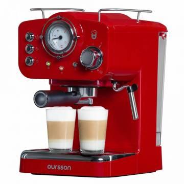 Espresor Oursson EM1500/RD, 900 W, 15 bar, 1.25 L, Rosu